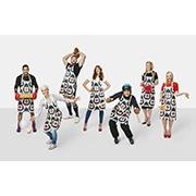 Graham models designer apron for Sport Relief 2016
